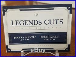 Mickey Mantle/Roger Maris 2017 National Treasures Legends Dual Cuts Booklet/5