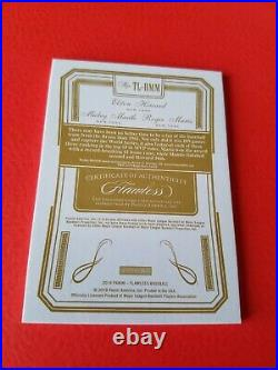 Mickey Mantle Roger Maris Elston Howard 3 Game Used Bat Jersey Card #25 Flawless