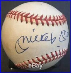 Mickey Mantle Signed Autograph Baseball UDA Upper Deck COA