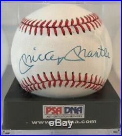 Mickey Mantle Signed / Autographed OML Baseball Graded NM / NM-MT 7.5 PSA/DNA