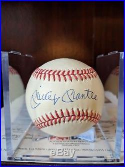 Mickey Mantle Signed Autographed OML Baseball PSA/DNA Full Letter Yankees HOF