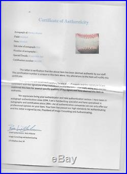 Mickey Mantle Signed Autographed Official MLB Baseball withCOA Guaranteed