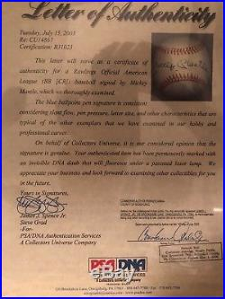 Mickey Mantle Signed Autographed Rawlings Baseball Auto PSA/DNA NY Yankees