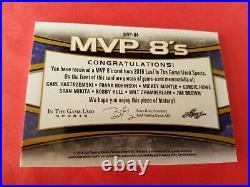 Mickey Mantle Wilt Chamberlain Jim Brown Gordie Howe Hull Yaz 8 Jersey Card Leaf