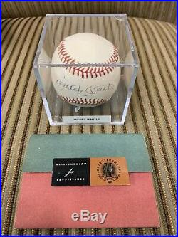 Mickey Mantle Yankees Auto Autographed Signed OAL Baseball UDA Upper Deck COA