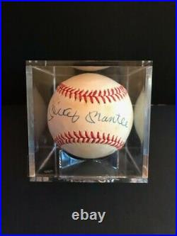 Mickey Mantle ny yankees autographed MLB baseball full PSA letter, sticker