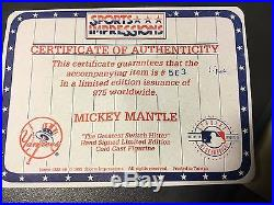 Mickey Mantle signed Sports Impressions Switch Hit Cold Cast Figurine #563/975
