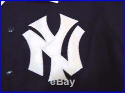 Mitchell & Ness Mlb Authentic New York Yankees Wool Varsity Jacket Size S 36