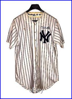 Mlb Don Mattingly Signed Game Used 1989 Game Worn Ny Yankees Jersey Coa From Jsa