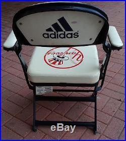 NY Yankees Game Used Jeter Rivera Final Season Locker Room Chair 2008 Steiner