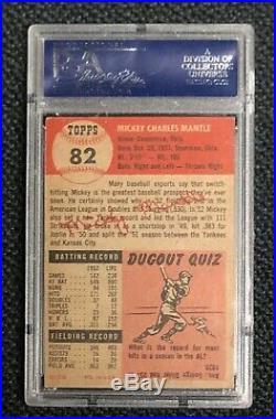 New York Yankees Mickey Mantle 1953 Topps #82 PSA Vg-Ex 4 Well Centered
