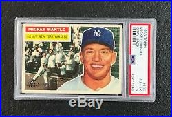 New York Yankees Mickey Mantle 1956 Topps #135 PSA Vg-Ex 4 Perfect Centering