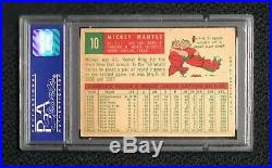 New York Yankees Mickey Mantle 1959 Topps #10 PSA 5 Ex Well Centered