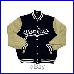 New York Yankees Mitchell & Ness Authentic Wool Leather Vintage Varsity Jacket
