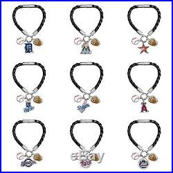 Official Authorized Game Time MLB Charm Bracelet, Pick your Team