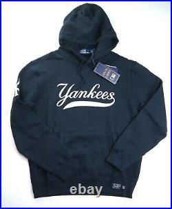 POLO RALPH LAUREN Men's MLB Collection Yankees NY Fleece Hoodie Navy sz L