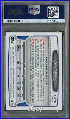 PSA 10 AARON JUDGE 2013 Bowman Chrome REFRACTOR Non Auto Rookie Card RC GEM MINT