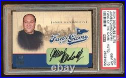 Pop 1 Psa 10 James Gandolfini 2004 Elite Auto Sp Fans Of The Game The Sopranos
