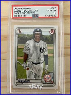 Psa 10 Jasson Dominguez 2020 Bowman 1st Rookie Card Gem Mint Yankees Rc