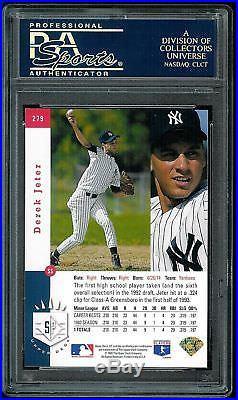 Psa 9 1993 Sp Foil #279 Derek Jeter Rookie (rc) High End Yankees Future Hof