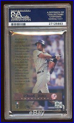 Psa 9 Derek Jeter 1997 Finest Embossed Atomic Gold Refractor Die Cut Yankees Hof