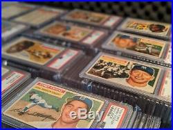 RARE 1956 Topps Baseball Complete Graded PSA Set 342 Robinson Mantle Clemente