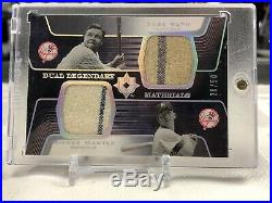 RARE Babe Ruth Mickey Mantle Upper Deck Game Worn Jersey Card