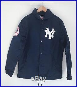 SUPREME x NEW YORK YANKEES BASEBALL Hooded Jacket in Blue. Size Medium. NWT