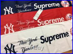SUPREME x NEW YORK YANKEES TOWEL RED NAVY WHITE Box Logo 2015 S/S Release