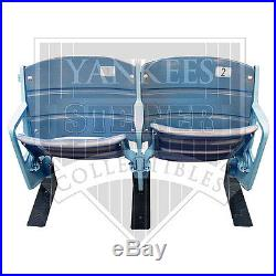 Steiner Authentic Game Used Yankee Double Seat Pair from the Original Stadium