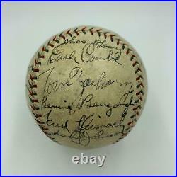 Stunning Babe Ruth & Lou Gehrig 1929 New York Yankees Team Signed Baseball JSA