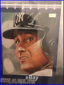 Super Break BAR DEREK JETER Game Used Tag Auto Yankees BGS 9.5/10 14k Gold 1/1