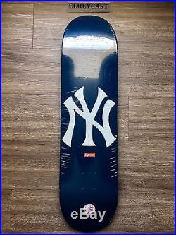 Supreme X New York Yankees X'47 Brand Skateboard Deck Navy Blue
