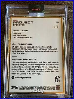 TOPPS PROJECT 2020 Derek Jeter 1993 by Matt Taylor GOLD FRAME Card 1/1