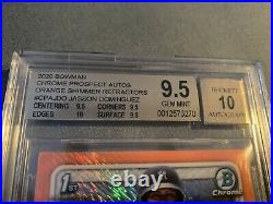 The Best Ever 2020 Bowman Chrome Orange Shimmer Jasson Dominguez Auto On eBay