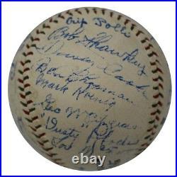 The Finest 1930 NY Yankees Team Signed Baseball Babe Ruth & Lou Gehrig JSA COA