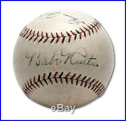 The Finest Babe Ruth & Lou Gehrig Signed Baseball PSA DNA Graded Mint 8