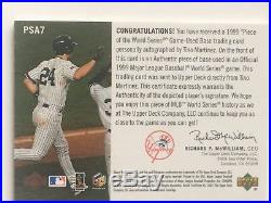Tino Martinez 2000 UD Hologrfx Piece of World Series Base Auto Autograph 12/24