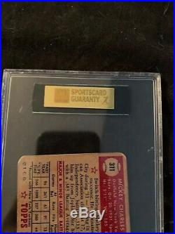 Topps 1952 Mickey Mantle New York Yankees #311 Baseball Card