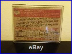 Topps 1952 Mickey Mantle Rookie Card Unknown
