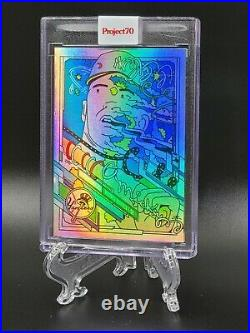 Topps PROJECT 70 Card 157 Mickey Mantle by Ermsy Rainbow Foil 1/70 READ