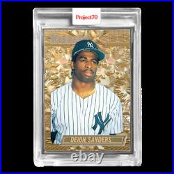 Topps Project70 Card 44-1990 Deion Sanders by Don C-Artist Proof # to 51SHIPSNOW
