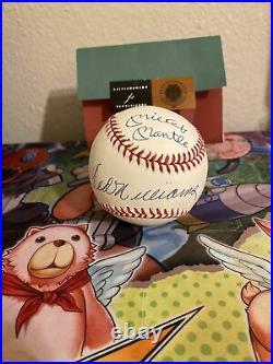 UDA Triple Crown Signed Baseball Mickey Mantle Ted Williams Yaz Robinson 10/49
