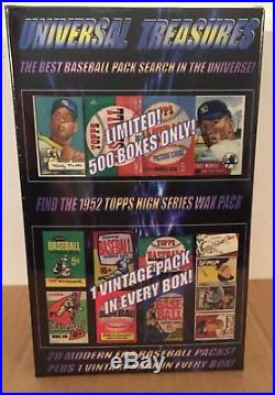 Universal Treasures 1952 Topps pack search! Vintage pack in every box! Mantle