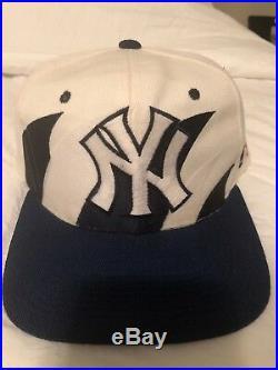 Vintage 90s Logo Athletics New York Yankees Double Sharktooth Snapback