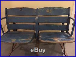 Vintage Old Yankee Stadium Built in 1923 Original Seat Pair Original Condition
