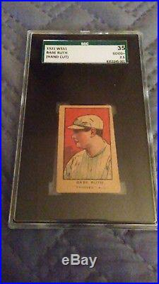 W551 1921 Babe Ruth SGC 35
