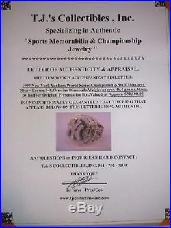 World Series Ring 1999 Yankees Championship 1st PSA/DNA Authenticated Ring