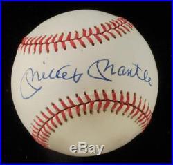 Yankees Great Mickey Mantle OAL Autographed Baseball 9/10- JSA LOA NEAR MINT