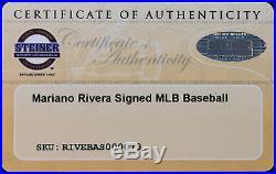 Yankees Mariano Rivera Signed Authentic OML Baseball Steiner Hologram & COA